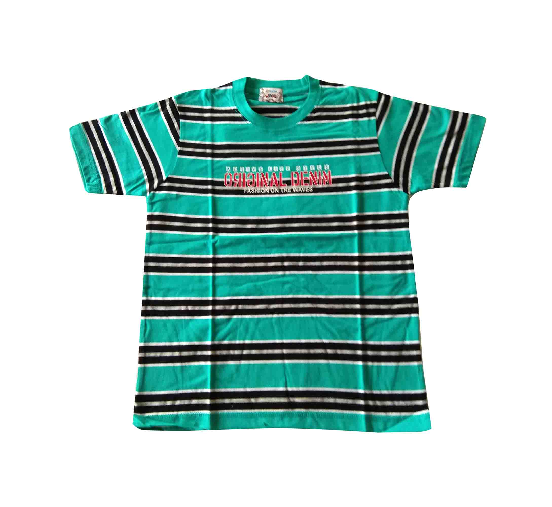 KT JUNE ORIGINAL DENIM-SEA GREEN KIDS T SHIRT