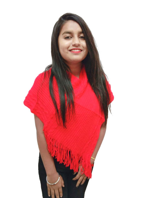WOMEN TOP-RED-WT OUTER D NO 05
