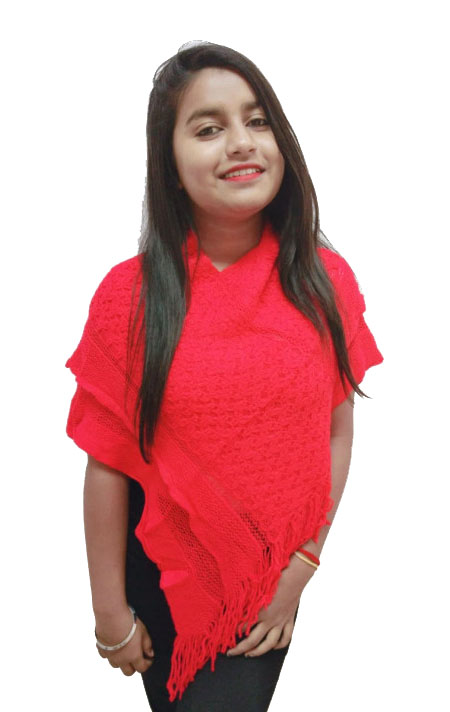 WOMEN TOP-RED-WT OUTER D NO 06