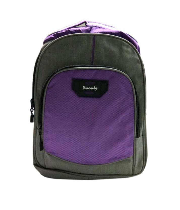 HS VALENTEENO 01-GRAY/PURPLE Backpack Bag