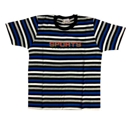 SPORTS URBAN-BLUE / BLACK KIDS ROUND NECK T- SHIRT