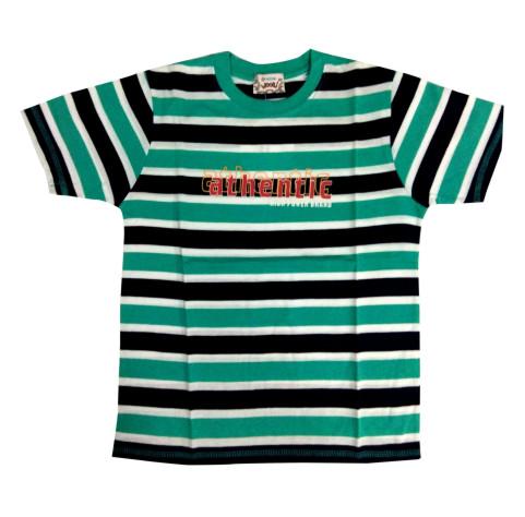 ATHENTIC-SEA GREEN KIDS ROUND NECK T- SHIRT