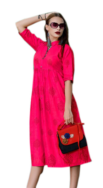 SMC RABTA 01-D NO 10 STYLISH COTTON LINEN KURTI