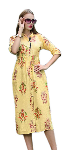 SMC RABTA 01-D NO 4 STYLISH COTTON LINEN KURTI