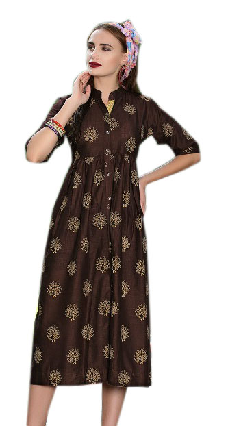 SMC RABTA 01-D NO 6 STYLISH COTTON LINEN KURTI