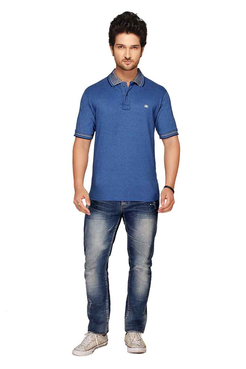 RE FPT 1-BLUE POLO T SHIRT