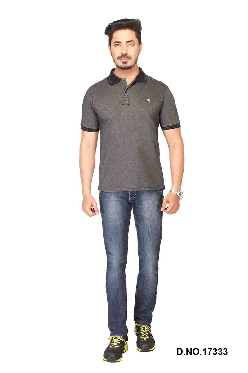 RE FPT 1-CHARCOAL POLO T SHIRT