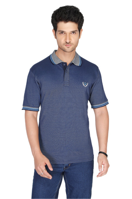 RE FPT 1-DARK BLUE POLO T SHIRT