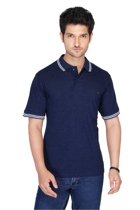 RE FPT 1-NAVY POLO T SHIRT