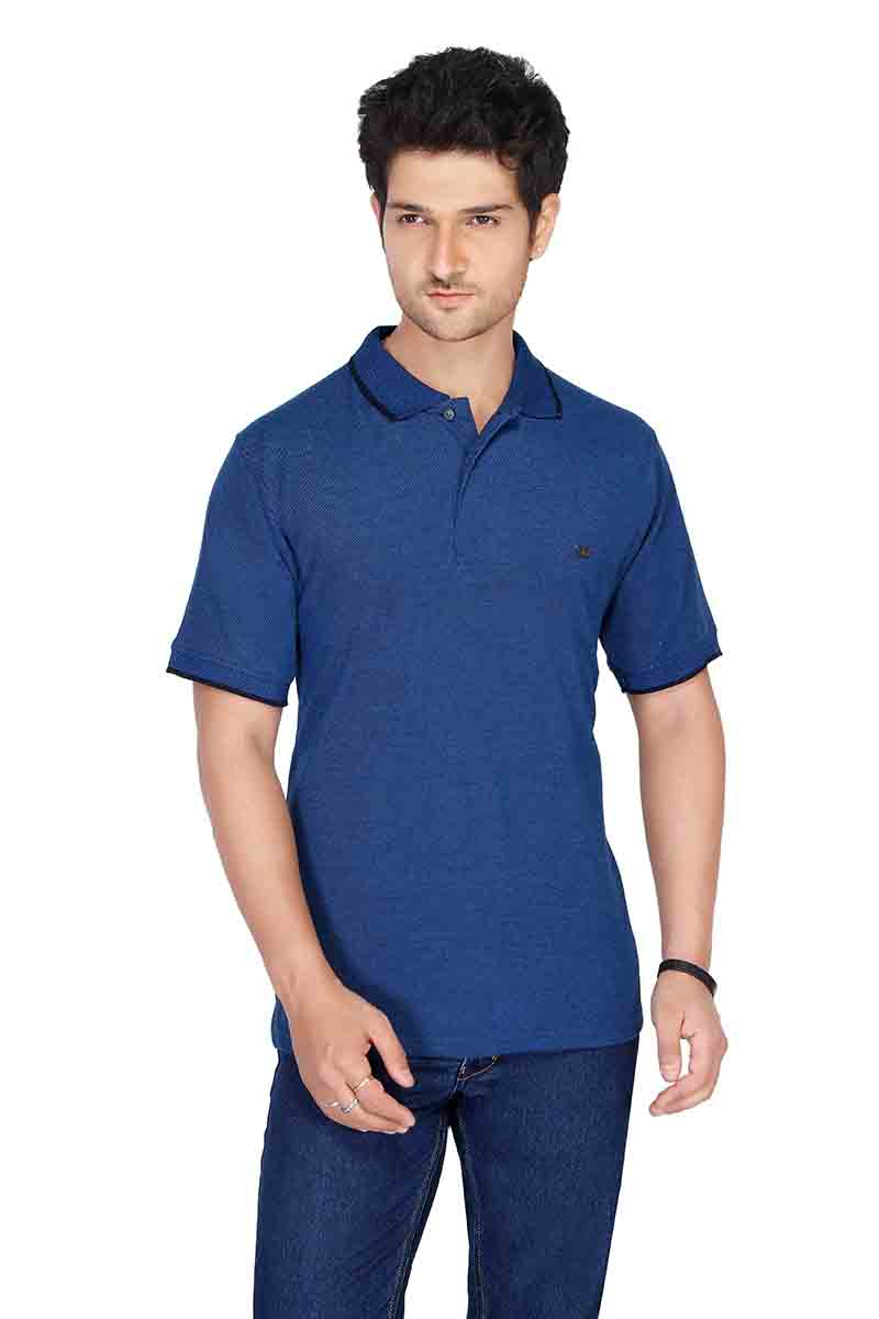 RE FPT 1-ROYAL BLUE POLO T SHIRT