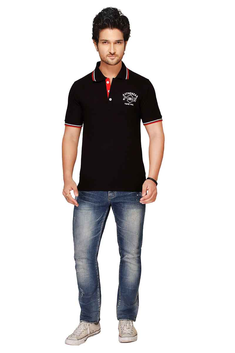 RE FPT 2-BLACK POLO T SHIRT