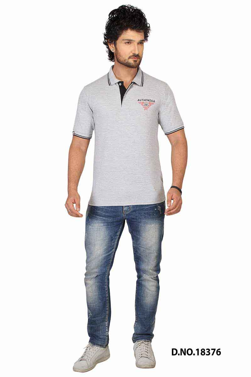 RE FPT 2-GRAY POLO T SHIRT