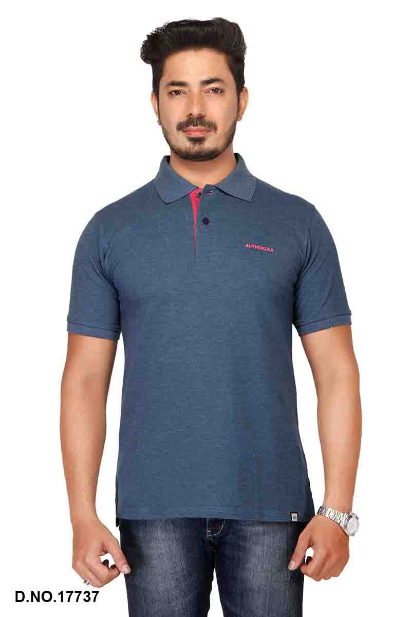 RE FPT 2-H. BLUE POLO T SHIRT