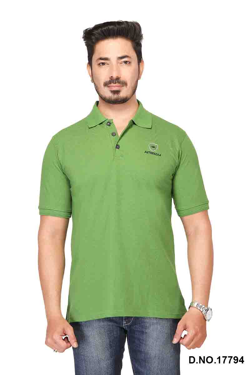 RE FPT 2-OLIVE GREEN POLO T SHIRT