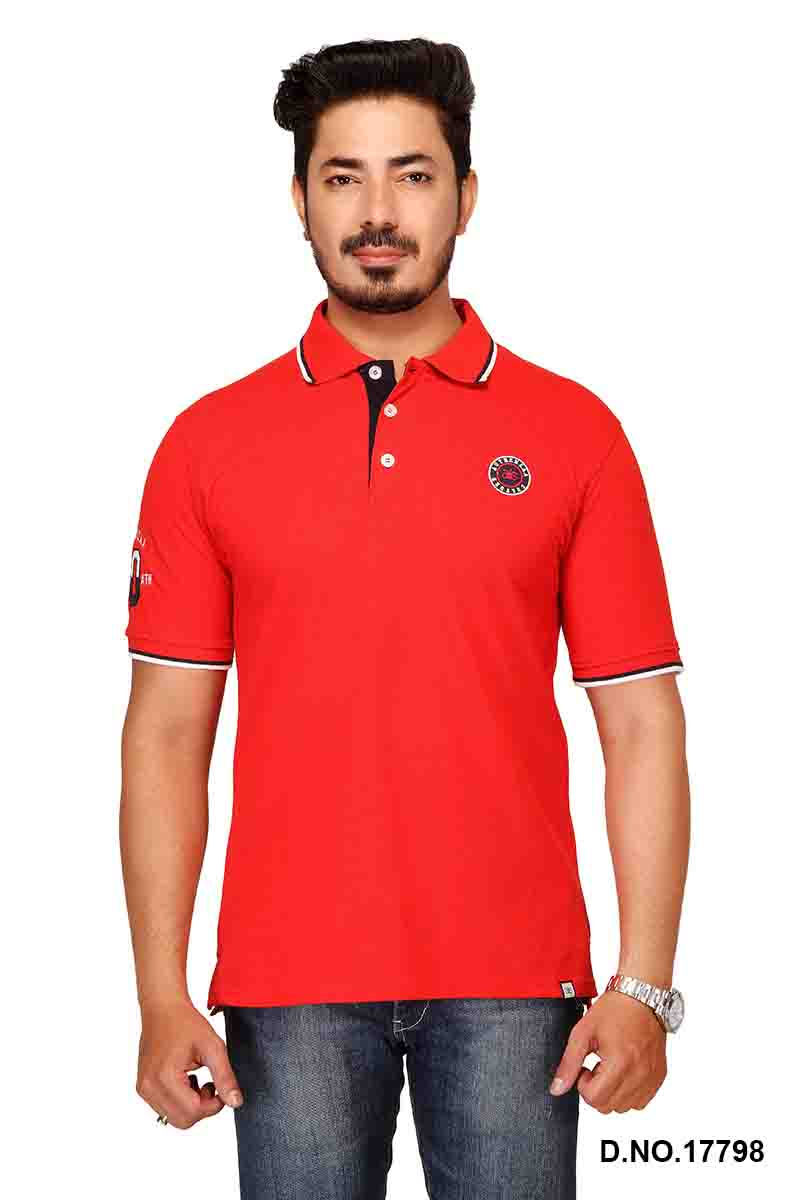 RE FPT 2-RED POLO T SHIRT
