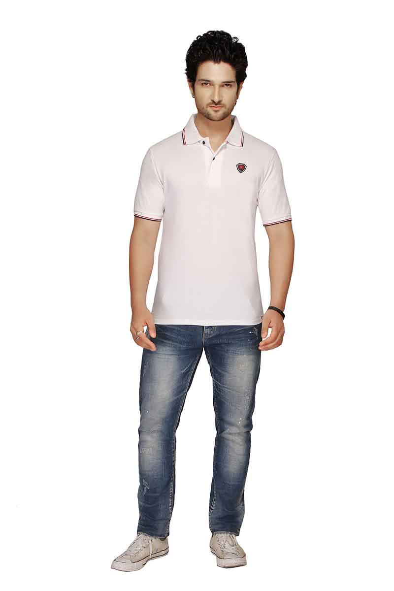 RE FPT 2-WHITE POLO T SHIRT