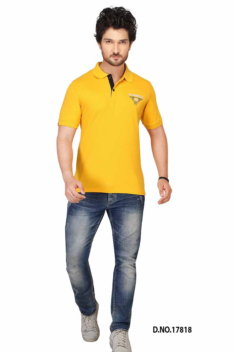RE FPT 3-MUSTURD YELLOW POLO T SHIRT