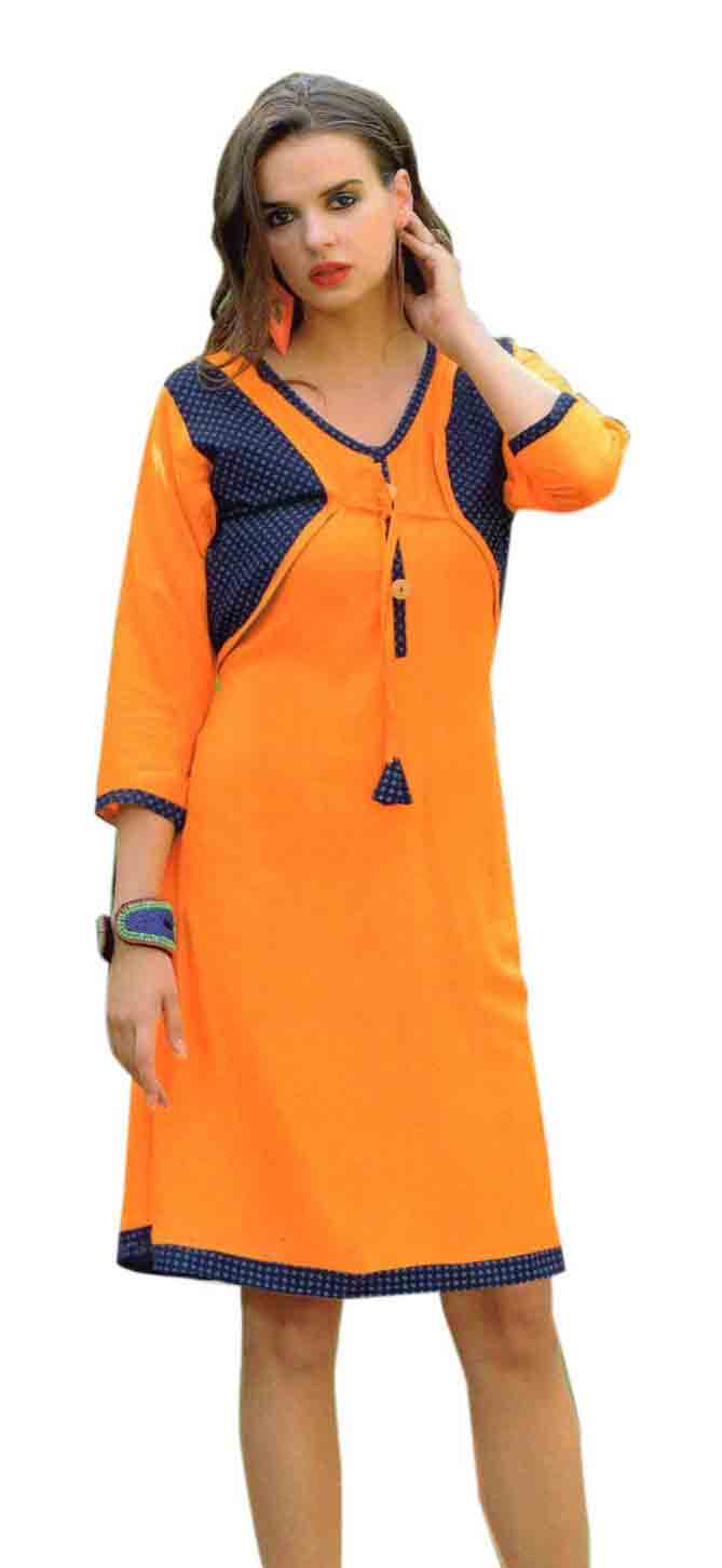 SMC SAZ 01-D NO 10  STYLISH SLEEVELESS RAYON KURTI