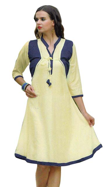 SMC SAZ 01-D NO 6  STYLISH SLEEVELESS RAYON KURTI