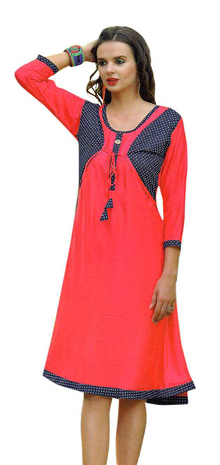 SMC SAZ 01-D NO 7  STYLISH SLEEVELESS RAYON KURTI