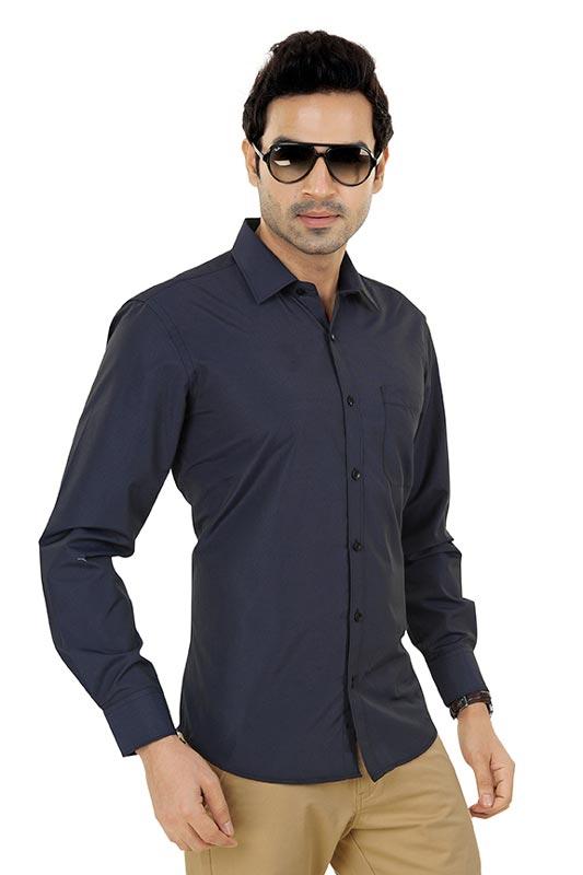 Dark Purple Plain Clubwear  Shirt