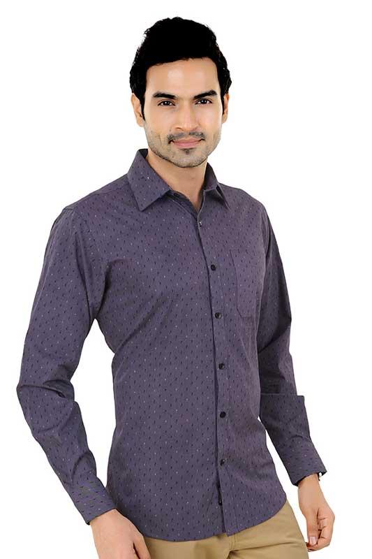 Purple Printed Clubwear Shirt