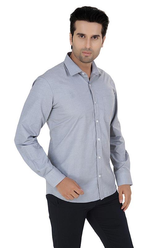 Light Grey Plain Formal Shirt