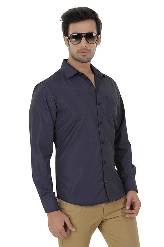 Black Plain Clubwear Shirt