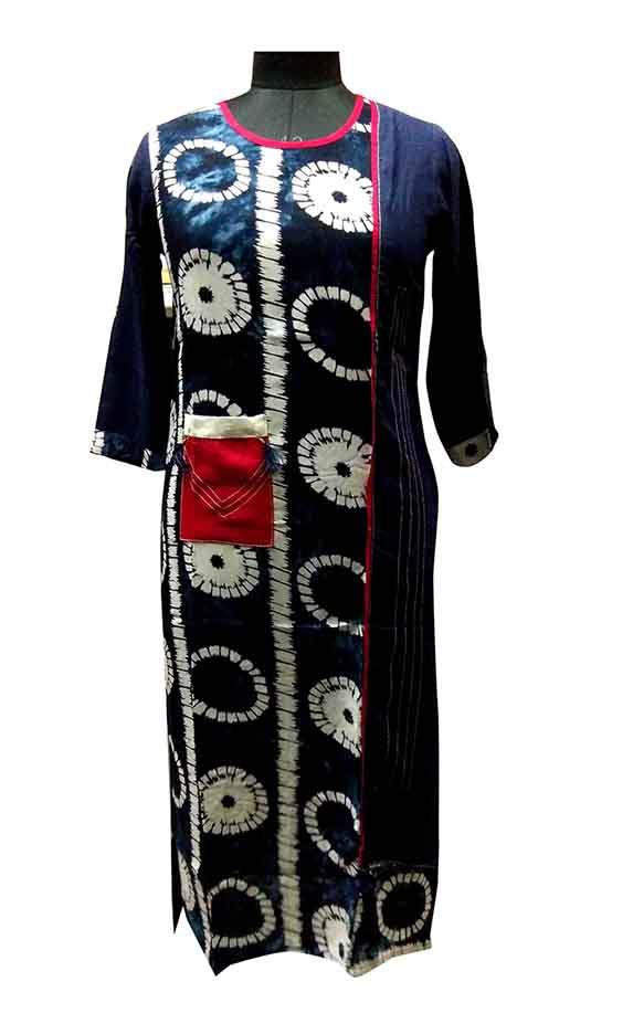 SGF CHAKARI 01-BLUE PRINT STYLISH RAYON KURTI
