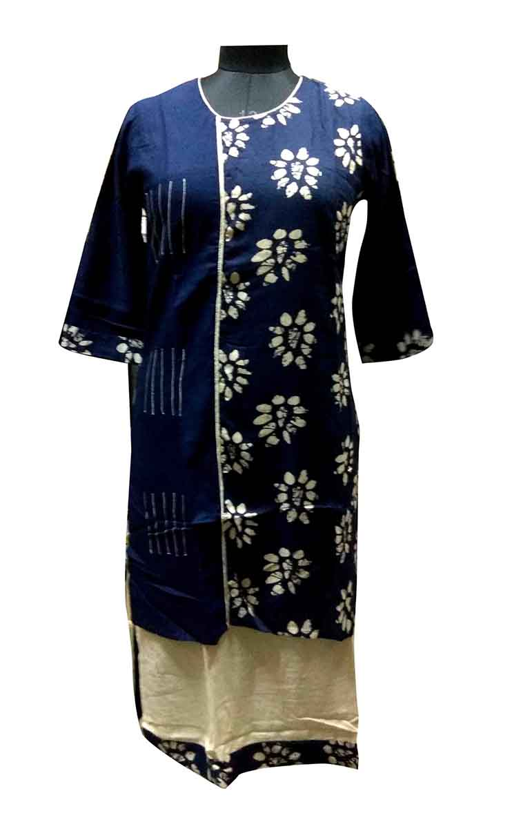 SGF D NO 1290-BLUE STYLISH RAYON KURTI