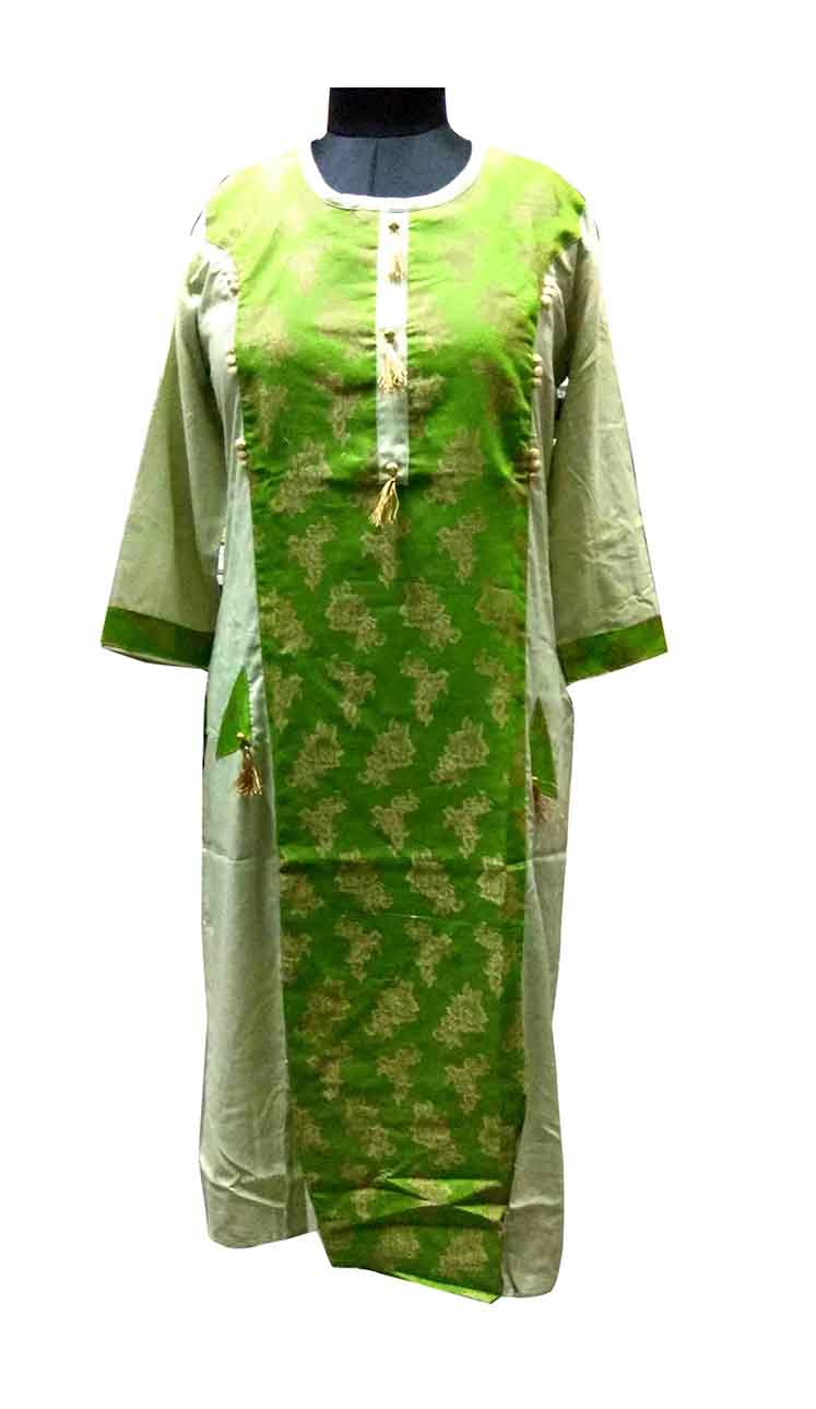 SGF V F 91-GREEN STYLISH RAYON KURTI