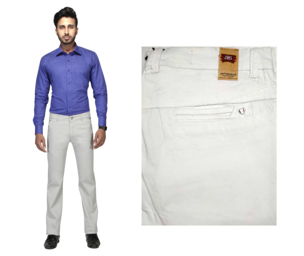 FSPL UTD MIX 4-WHITE CASUAL TROUSER