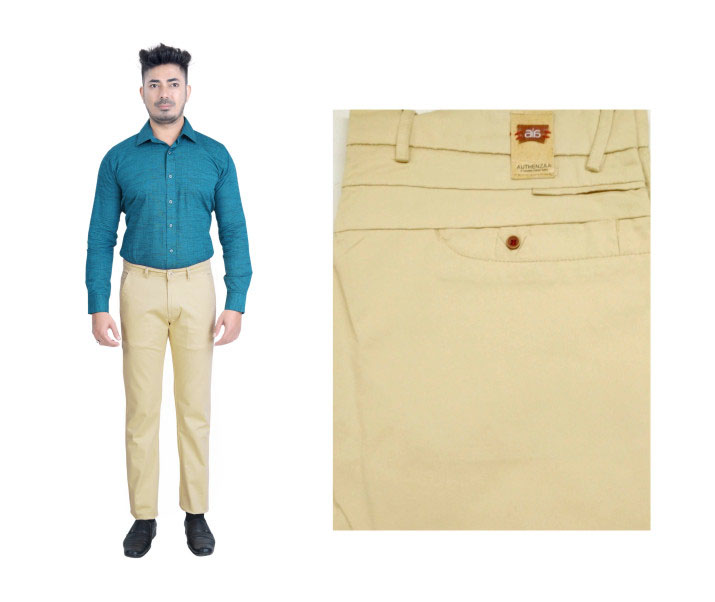 FSPL UTD MIX 5-DARK CREAM CASUAL TROUSER