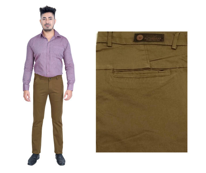 FSPL UTD MIX 5-D MAHENDI CASUAL TROUSER