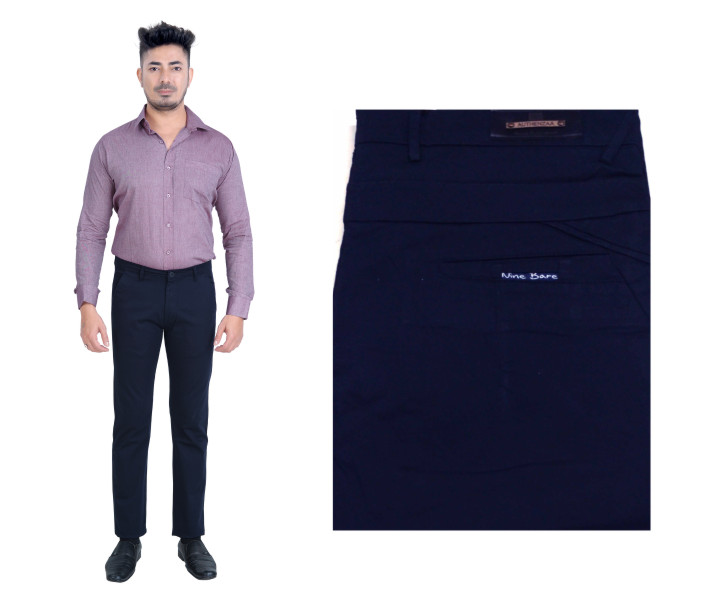 FSPL UTD MIX 5-NAVY CASUAL TROUSER
