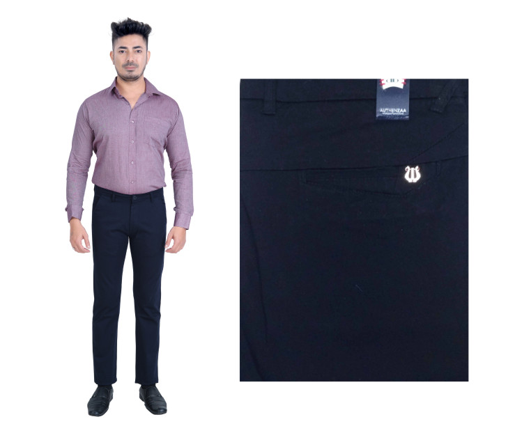 FSPL UTD MIX 6-BLACK CASUAL TROUSER