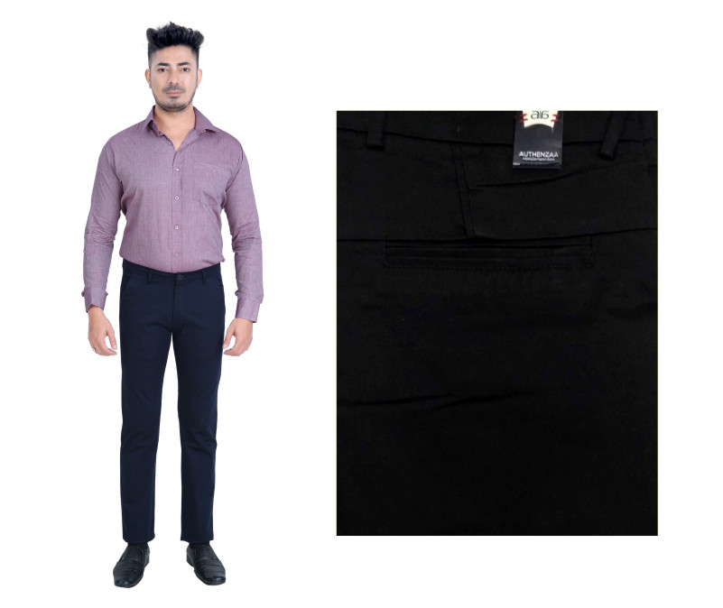 FSPL UTD MIX 6-NAVY CASUAL TROUSER