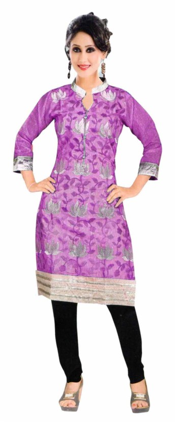 SKT RIM ZIM 1 - Purple Stitched Cotton Kurti