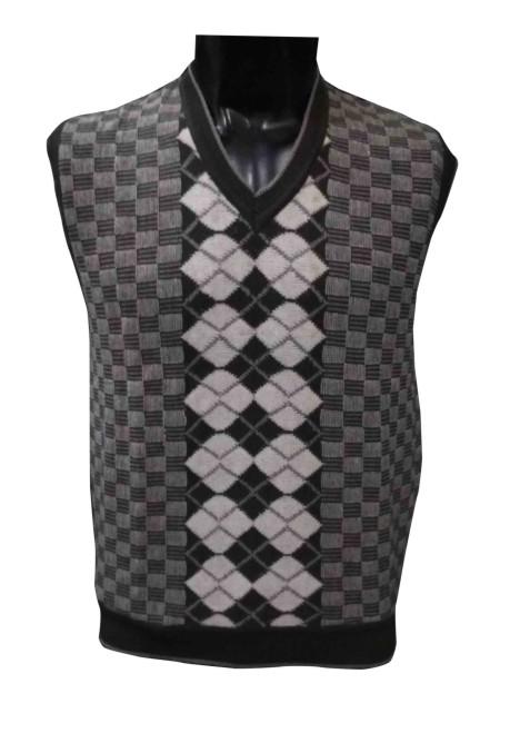 SL V NECK - Dark Gray Sleeveless Sweater