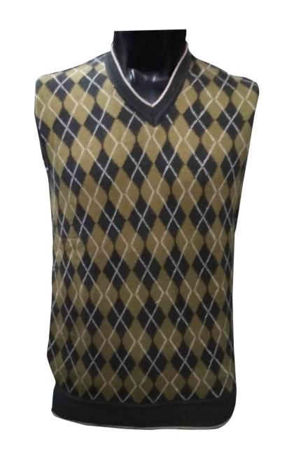 SL V NECK - Gray Mehndi Sleeveless Sweater