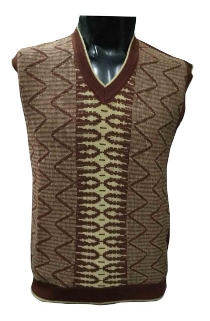 SL V NECK - Mehroon Sleeveless Sweater