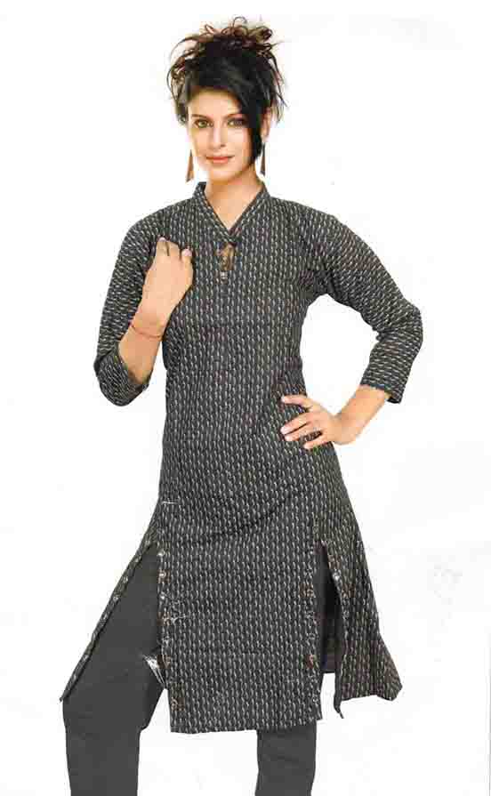 SMC D NO 325 E-BLACK STYLISH RAYON KURTI
