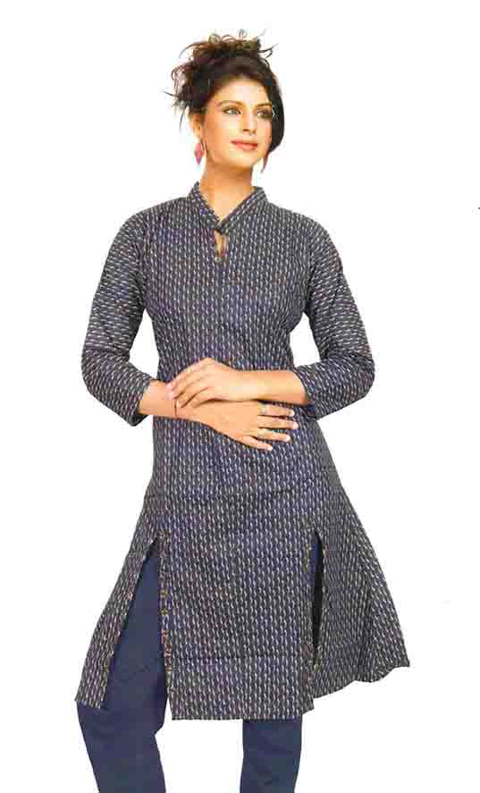 SMC D NO 325 E-BLUE STYLISH RAYON KURTI