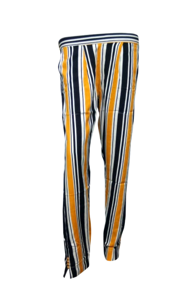 SOMAYA D NO 9-BLACK YELLOW WMN PANT
