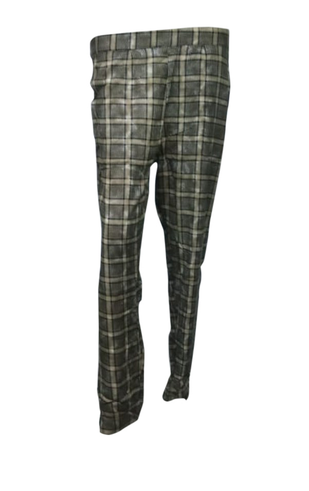 SOMAYA D NO 10-BLACK CHECKS WMN PANT