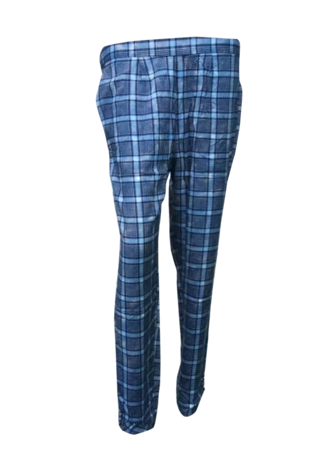 SOMAYA D NO 10-BLUE CHECKS WMN PANT