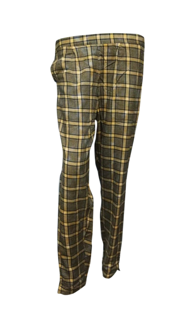 SOMAYA D NO 10-YELLOW CHECKS WMN PANT
