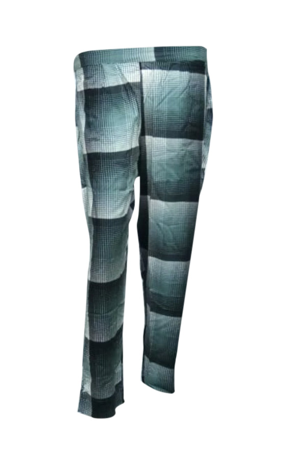 SOMAYA D NO 11-GREEN CHECKS WMN PANT