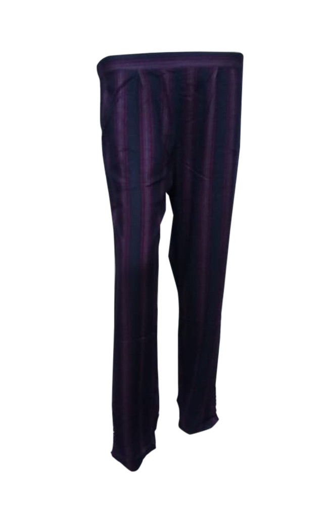 SOMAYA D NO 12-NAVY PURPLE WMN PANT