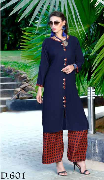 SMC SONALI D601-D NO 601 WOMEN KURTI WITH PALAZO